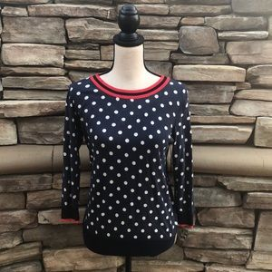 NWOT J.Crew Poka Dot Sweater Sz Small